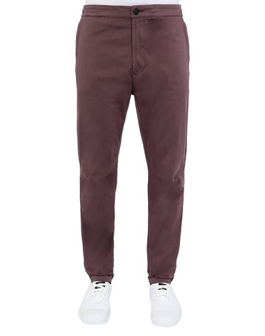 STONE ISLAND 30909 Trousers Man Dark Burgundy EUR 255