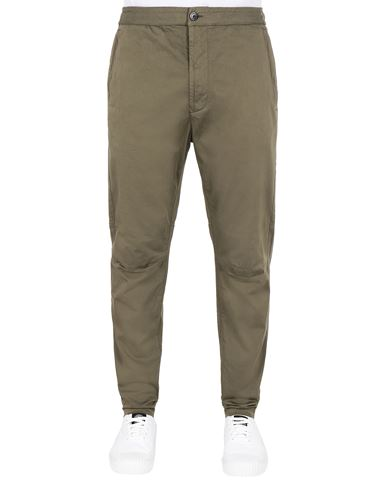STONE ISLAND 30909 Pants Man Olive Green USD 294
