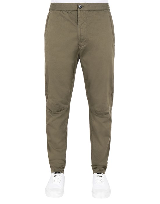 STONE ISLAND 30909 Pants Man Olive Green