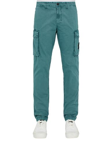 STONE ISLAND 318WA T.CO 'OLD'	 Pants Man Dark Teal Green USD 320