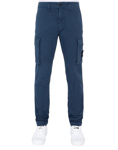 STONE ISLAND 318WA T.CO 'OLD'	 Trousers Man Avio Blue EUR 275
