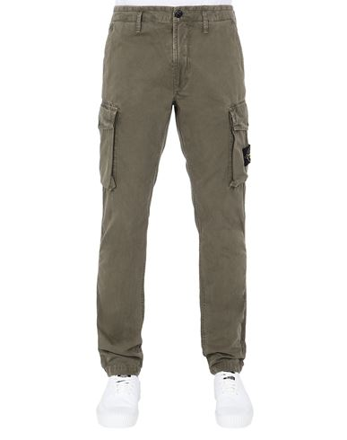 STONE ISLAND 318WA T.CO 'OLD'	 Trousers Man Olive Green EUR 242