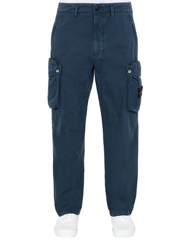 STONE ISLAND 319WA T.CO 'OLD' Trousers Man Avio Blue EUR 307