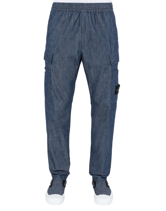 STONE ISLAND 31107 CHAMBRAY CANVAS  Pants Man Wash