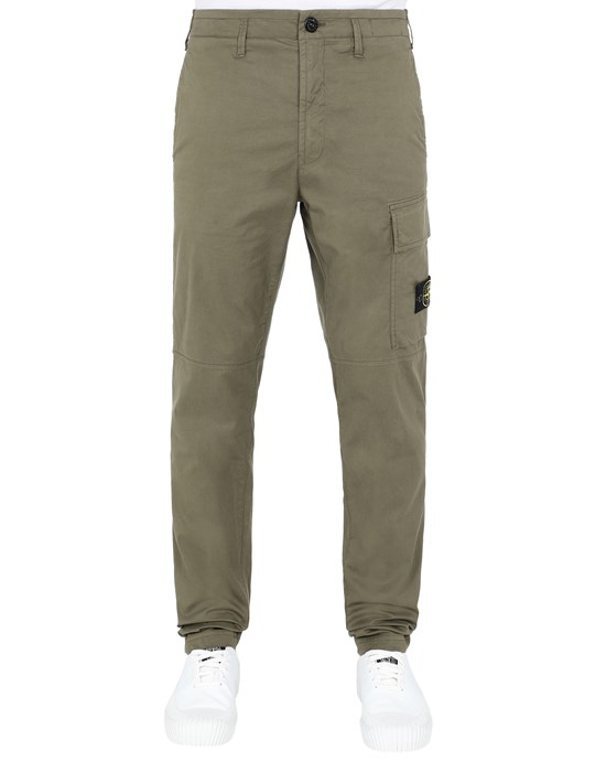 STONE ISLAND 31419 Trousers Man Olive Green