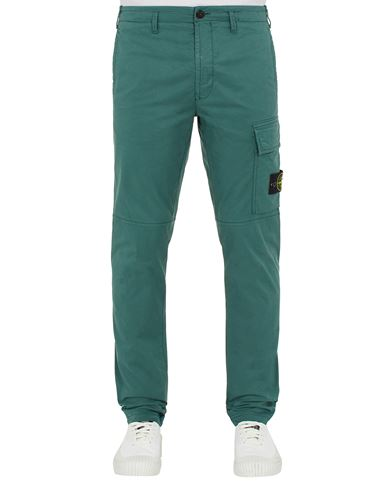 STONE ISLAND 31419 Trousers Man Dark Teal Green EUR 249