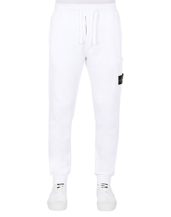 STONE ISLAND 64551 Pants Man White