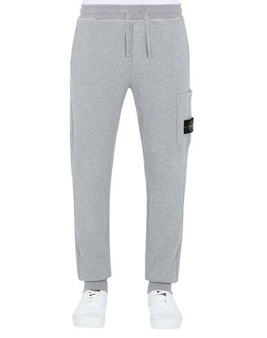 STONE ISLAND 64551 Fleece Trousers Man DUST MELANGE EUR 239