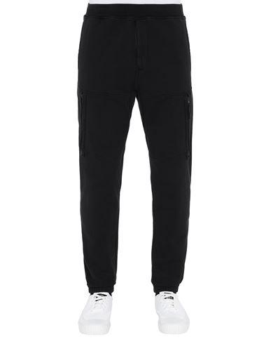 STONE ISLAND 60551 Fleece Pants Man Black EUR 223
