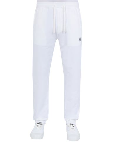 STONE ISLAND 64937 Fleece Pants Man White USD 361