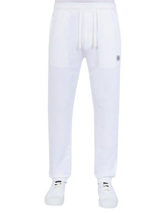 STONE ISLAND 64937 Pantaloni in felpa Uomo Bianco