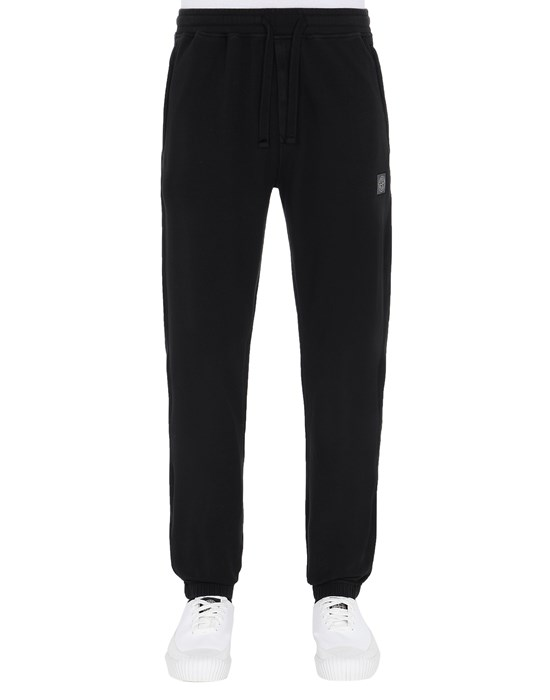STONE ISLAND 64937 Fleece Pants Man Black