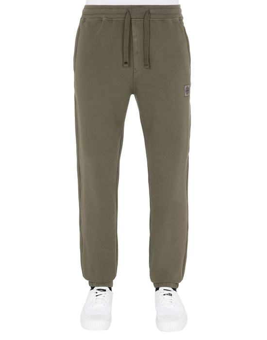 STONE ISLAND 64937 Fleece Trousers Man Olive Green