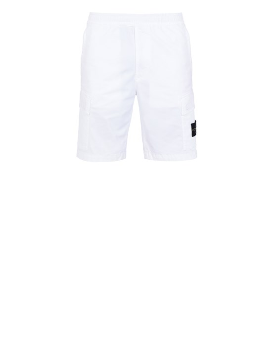 STONE ISLAND L0904 T.CO 'OLD' Bermuda shorts Man White