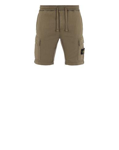 STONE ISLAND 65651 Fleece Bermuda Shorts Man Olive Green USD 252