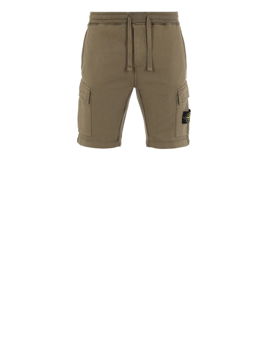 Fleece Bermuda Shorts Man 65651 Front STONE ISLAND