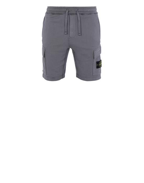 STONE ISLAND 65651 Fleece Bermuda Shorts Man Blue Grey