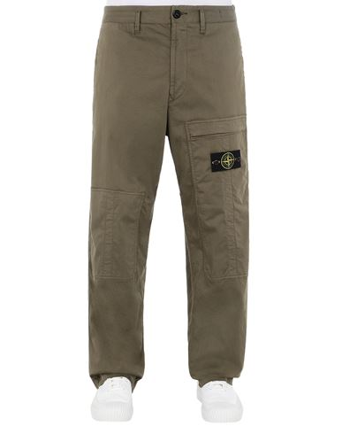 STONE ISLAND 30609 Pants Man Olive Green USD 437