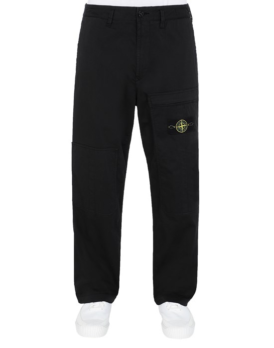 STONE ISLAND 30609 Trousers Man Black