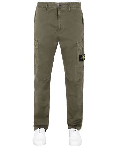 STONE ISLAND 30504 T.CO 'OLD' Pants Man Olive Green USD 352