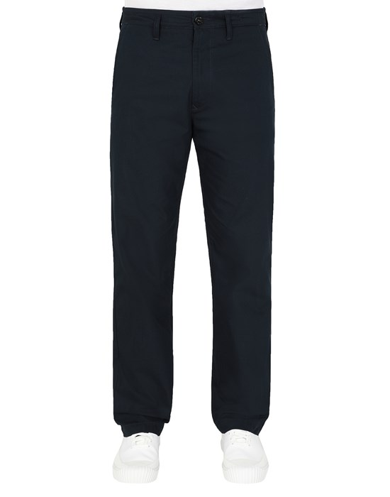 Trousers Man 31506 O-COTTON/R-NYLON TELA Front STONE ISLAND