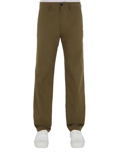 STONE ISLAND 31506 O-COTTON/R-NYLON TELA Pants Man Olive Green USD 267