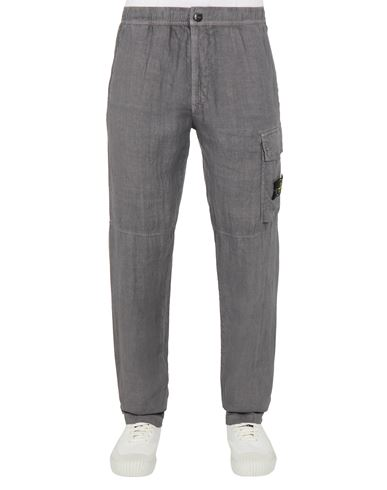 STONE ISLAND 31601 'FISSATO' TREATMENT Pants Man Blue Grey EUR 197