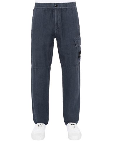 STONE ISLAND 31601 'FISSATO' TREATMENT Trousers Man Avio Blue EUR 259