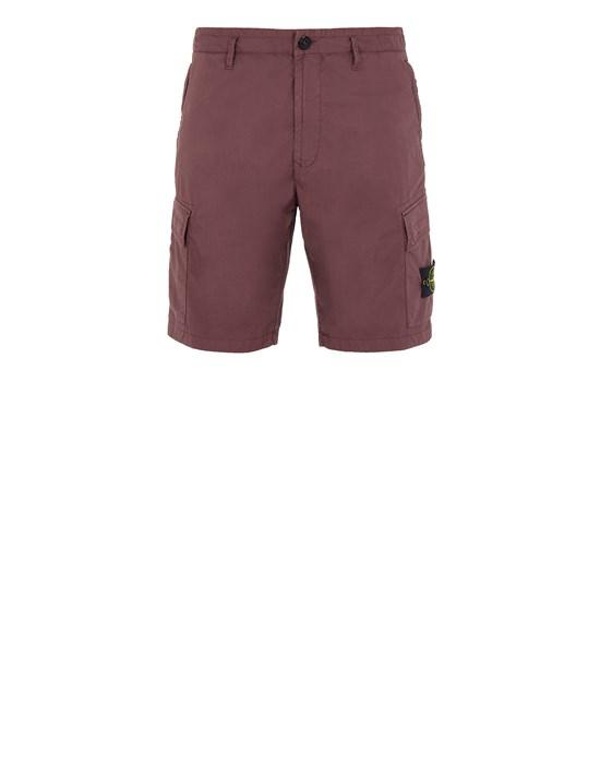 STONE ISLAND L0803 Bermuda shorts Man Dark Burgundy