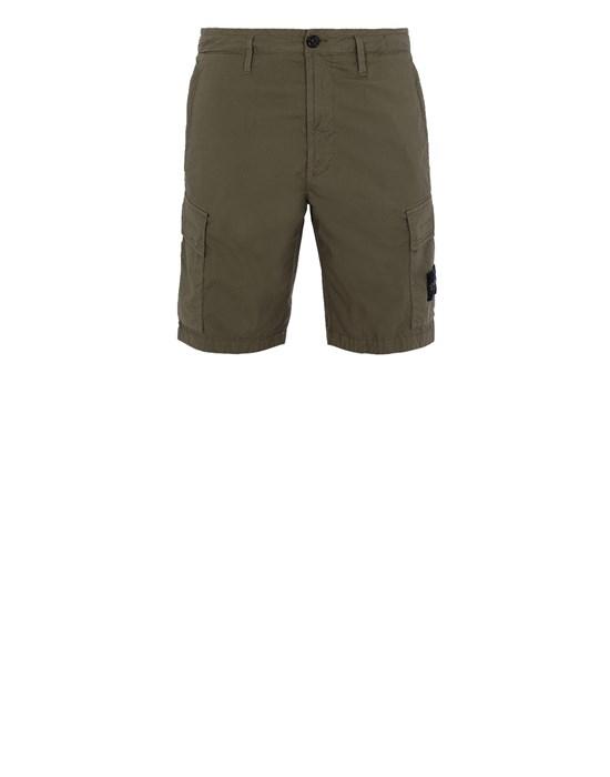 STONE ISLAND L0803 Bermuda shorts Man Olive Green