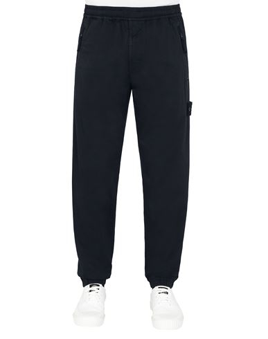 STONE ISLAND 317F2  GHOST PIECE_STRETCH COTTON WOOL SATIN  Trousers Man Blue EUR 237