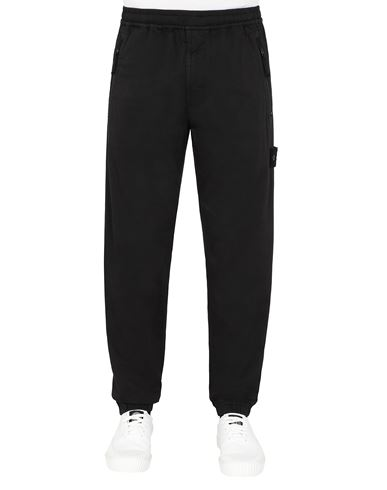 STONE ISLAND 317F2  GHOST PIECE_STRETCH COTTON WOOL SATIN  Pants Man Black EUR 203