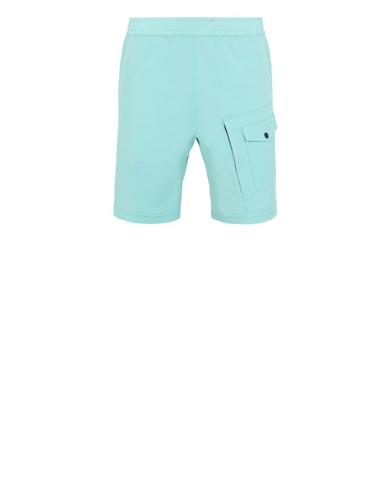 Sold out - Other colours available STONE ISLAND L15X4 STONE ISLAND MARINA<br>TWO WAYS STRETCH RECYCLED NYLON TWIL Bermuda shorts Man Aqua