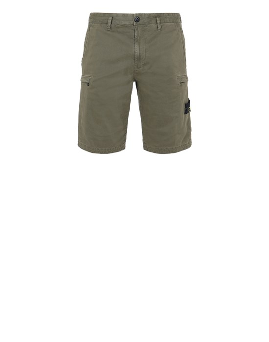 STONE ISLAND L0504 T.CO 'OLD' Bermuda Man Olive Green