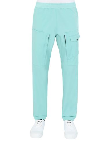 STONE ISLAND 312X4 STONE ISLAND MARINA<br>TWO-WAY STRETCH RECYCLED NYLON TWILL Trousers Man Aqua EUR 319