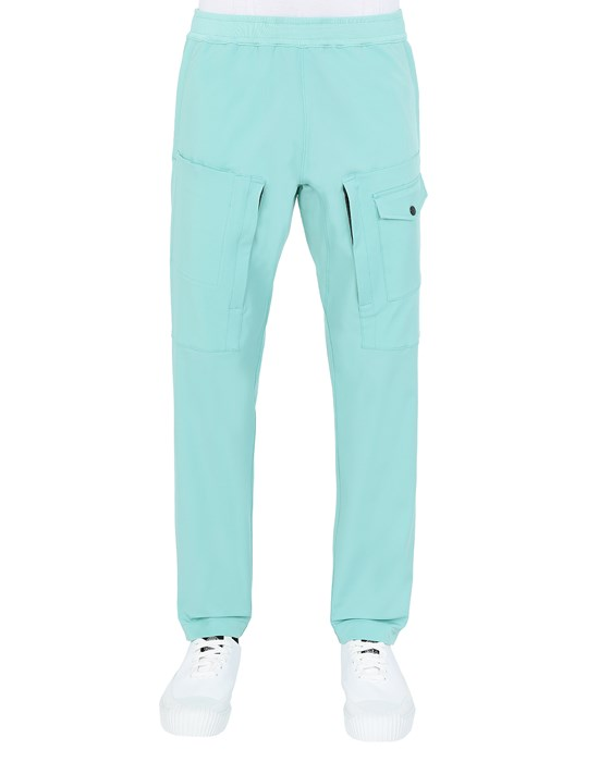 STONE ISLAND 312X4 STONE ISLAND MARINA<br>TWO-WAY STRETCH RECYCLED NYLON TWILL Pants Man Aqua
