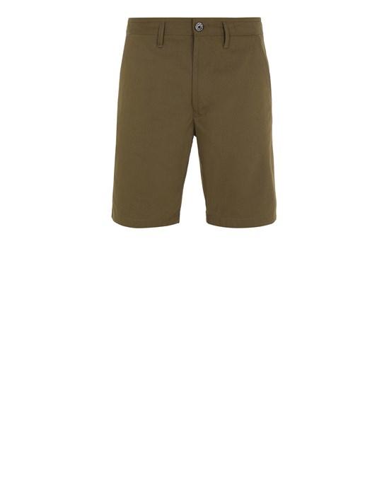 STONE ISLAND L0306 O-COTTON/R-NYLON TELA Bermuda shorts Man Olive Green