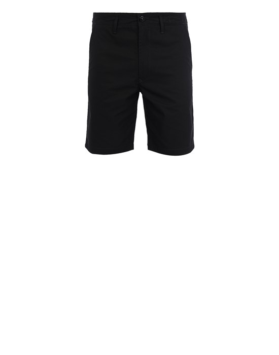 STONE ISLAND L0306 O-COTTON/R-NYLON TELA Bermuda shorts Man Black