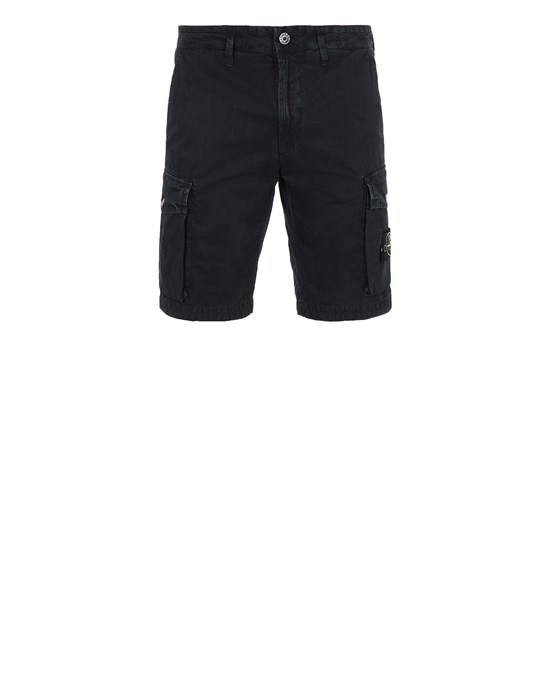 STONE ISLAND L07WA T.CO 'OLD' Bermuda shorts Man Black