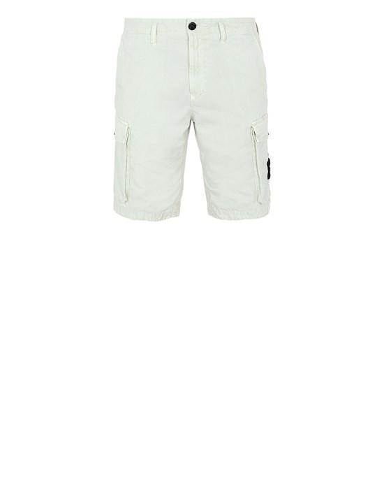 STONE ISLAND L07WA T.CO 'OLD' Bermuda shorts Man Light Green