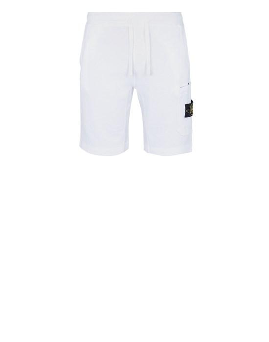 STONE ISLAND 63560 T.CO 'OLD'  Fleece Bermuda Shorts Man White