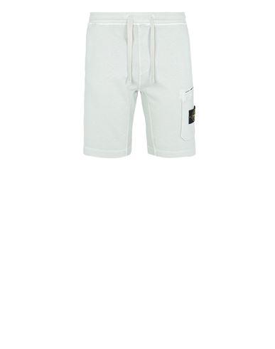 STONE ISLAND 63560 T.CO 'OLD'  Fleece Bermuda Shorts Man Light Green EUR 160