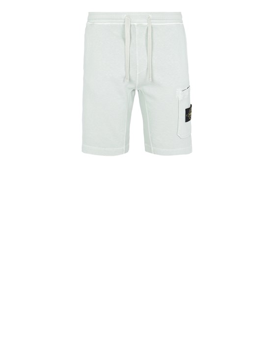 STONE ISLAND 63560 T.CO 'OLD'  FLEECE BERMUDA SHORTS Man Light Green