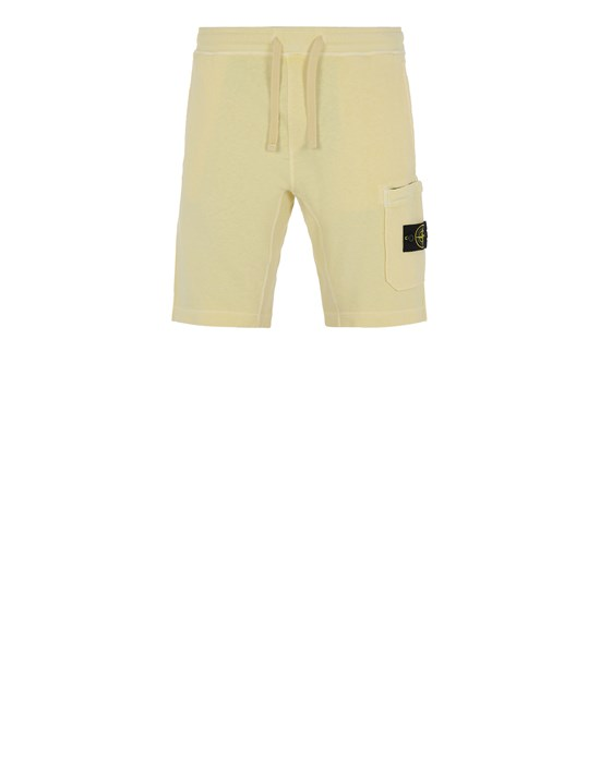 STONE ISLAND 63560 T.CO 'OLD'  Fleece Bermuda Shorts Man Lemon
