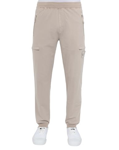 STONE ISLAND 655F3 GHOST PIECE_COTTON STRETCH FLEECE  Pants Man Beige USD 355