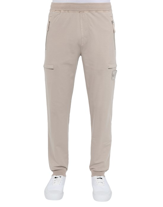 STONE ISLAND 655F3 GHOST PIECE_COTTON STRETCH FLEECE  Pants Man Beige