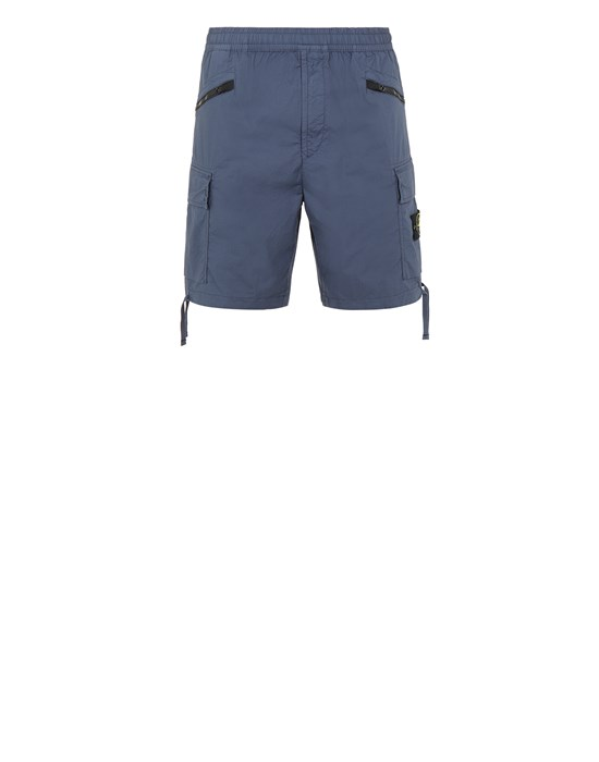 STONE ISLAND L0403 Bermuda shorts Man Avio Blue