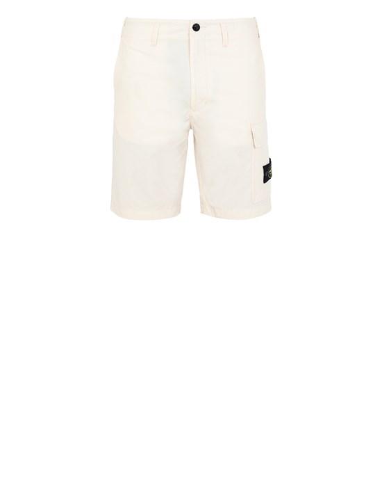 STONE ISLAND L1006 O-COTTON/R-NYLON TELA Bermuda shorts Man Ivory