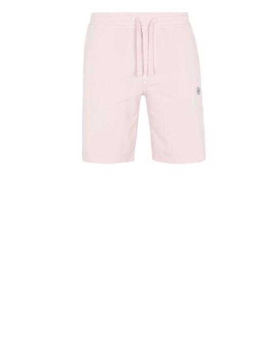 STONE ISLAND 65137 Fleece Bermuda Shorts Man Pastel pink