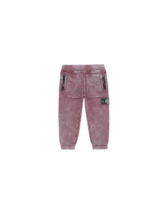 STONE ISLAND BABY 60941 DUST COLOUR Fleece Trousers Man Dark Burgundy